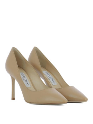 Jimmy Choo: court shoes online - Romy 85 leather nude pumps