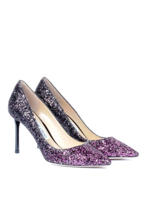 Jimmy Choo: court shoes online - Romy 85 shaded glitter pumps