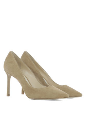 Jimmy Choo: court shoes online - Romy 85 suede pumps