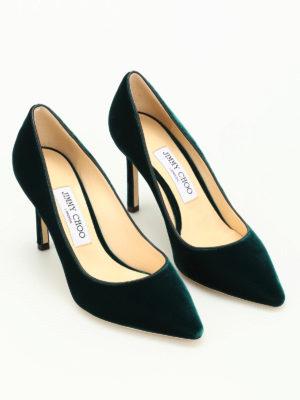 Jimmy Choo: court shoes online - Romy 85 velvet pumps