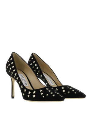 Jimmy Choo: court shoes online - Romy star detail suede pumps