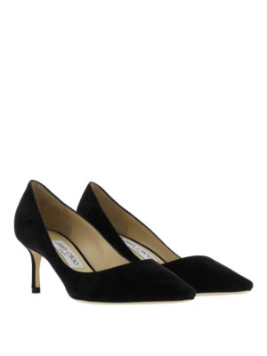 Jimmy Choo: court shoes online - Romy suede pumps