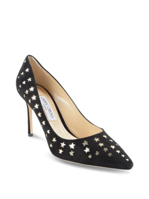 Jimmy Choo: court shoes online - Star detail Roomy 85 leather pumps