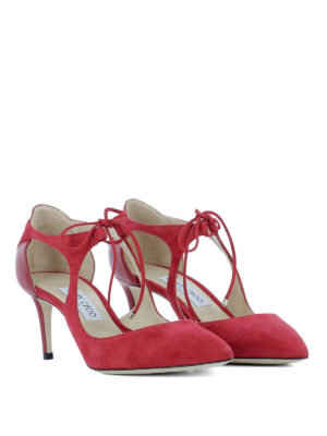 Jimmy Choo: court shoes online - Vanessa 65 suede pumps