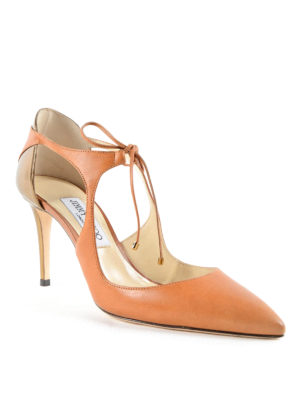 Jimmy Choo: court shoes online - Vanessa 85 lace-up court shoes