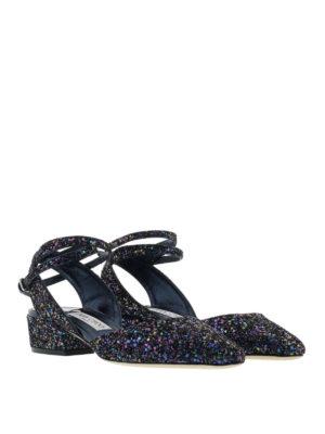 Jimmy Choo: court shoes online - Vicky sling back glitter pumps