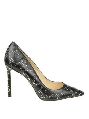 506c076ae9d JIMMY CHOO  scarpe décolleté - Décolleté Romy 100 con borchiette micro star