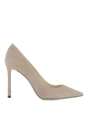 Jimmy Choo: court shoes - Romy 100 suede pumps