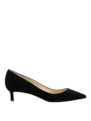 Jimmy Choo: court shoes - Romy 40 bon ton black kitten heels