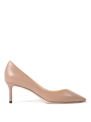 Jimmy Choo: court shoes - Romy 60 ballet leather pumps