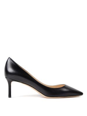 Jimmy Choo: court shoes - Romy 60 black leather pumps