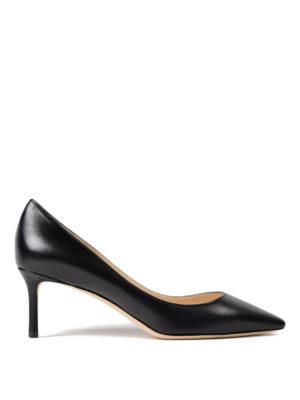 JIMMY CHOO: scarpe décolleté - Décolleté Romy 60 in pelle nera