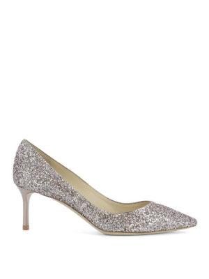 Jimmy Choo: court shoes - Romy 60 glittered pumps