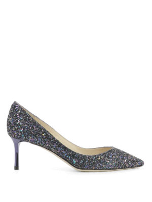 Jimmy Choo: court shoes - Romy 60 multicolour glittered pumps