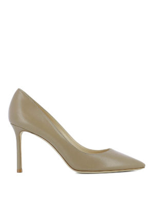 Jimmy Choo: court shoes - Romy 85 beige leather pumps