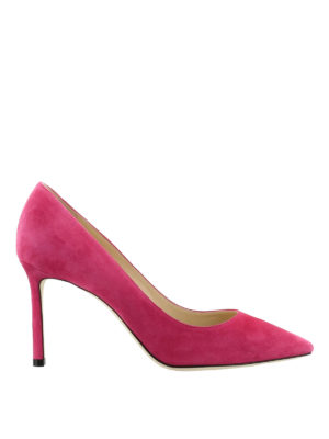 Jimmy Choo: court shoes - Romy 85 bon ton suede pumps