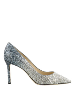 Jimmy Choo: court shoes - Romy 85 degrade glitter pumps