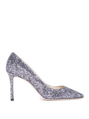Jimmy Choo: court shoes - Romy 85 glitter and stars pumps