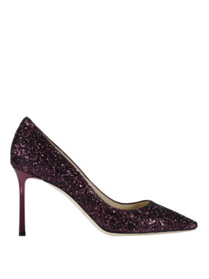 Jimmy Choo: court shoes - Romy 85 glitter pumps