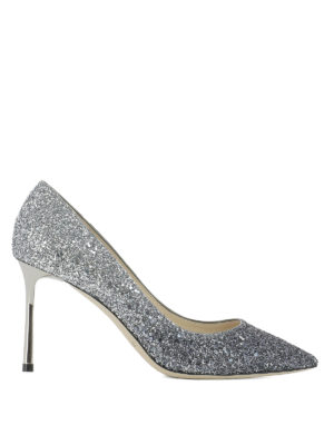 Jimmy Choo: court shoes - Romy 85 glittered pumps