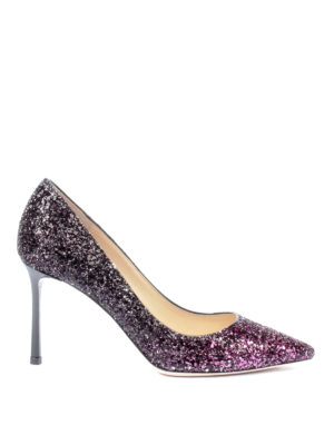 Jimmy Choo: court shoes - Romy 85 shaded glitter pumps