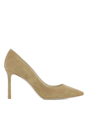 Jimmy Choo: court shoes - Romy 85 suede pumps