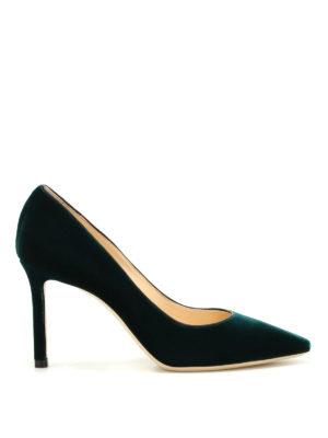 Jimmy Choo: court shoes - Romy 85 velvet pumps