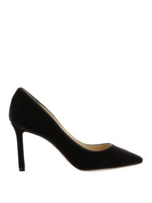 Jimmy Choo: court shoes - Romy black velvet pumps