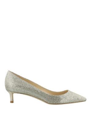 JIMMY CHOO: scarpe décolleté - Décolleté Romycolor champagne brillante