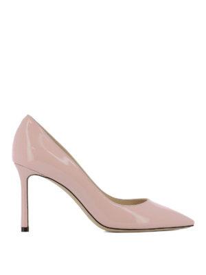 JIMMY CHOO: scarpe décolleté - Décolleté Romy in delicata vernice rosa