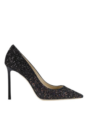 Jimmy Choo: court shoes - Romy glitter pumps
