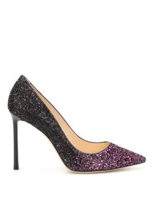 Jimmy Choo: court shoes - Romy glitter sensual pumps