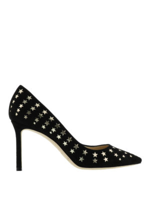 Jimmy Choo: court shoes - Romy star detail suede pumps