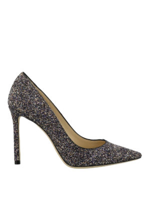 JIMMY CHOO: scarpe décolleté - Décolleté Romy in glitter color twilight