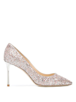 JIMMY CHOO: scarpe décolleté - Sofisticate pumps Romy 85 tacco in metallo