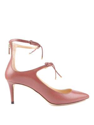 Jimmy Choo: court shoes - Sage 65 laced-up pumps