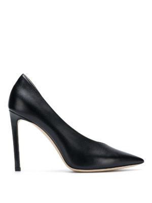 JIMMY CHOO: scarpe décolleté - Décolleté asimmetriche Sophia 100 in pelle