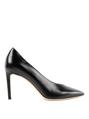 JIMMY CHOO: scarpe décolleté - Décolleté nere Sophia 85 con taglio a V