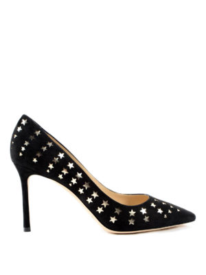 Jimmy Choo: court shoes - Star detail Roomy 85 leather pumps
