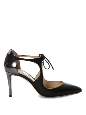 Jimmy Choo: court shoes - Vanessa suede and napa pumps