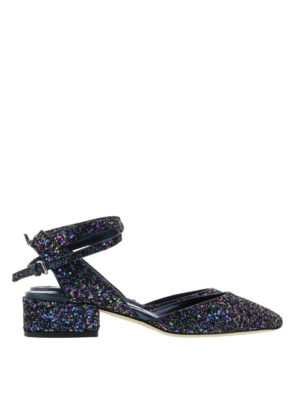 Jimmy Choo: court shoes - Vicky sling back glitter pumps