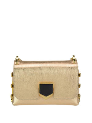 Jimmy Choo: cross body bags - Lockett Mini gold bag