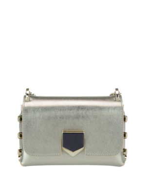 Jimmy Choo: cross body bags - Lockett Mini silver bag