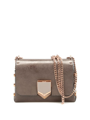 Jimmy Choo: cross body bags - Lockett Petite brushed leather bag