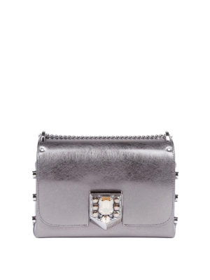 Jimmy Choo: cross body bags - Lockett Petite metallic leather bag