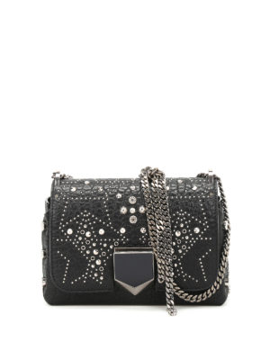Jimmy Choo: cross body bags - Lockett Petite studded leather bag