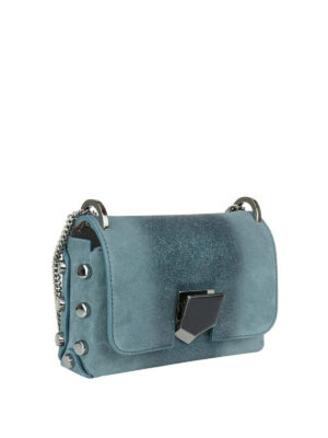 Jimmy Choo: cross body bags online - Lockett Mini glittered suede bag