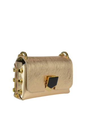 Jimmy Choo: cross body bags online - Lockett Mini gold bag