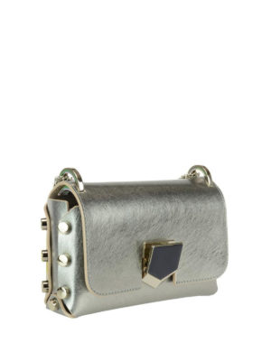 Jimmy Choo: cross body bags online - Lockett Mini silver bag