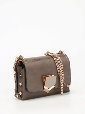 Jimmy Choo: cross body bags online - Lockett Petite brushed leather bag